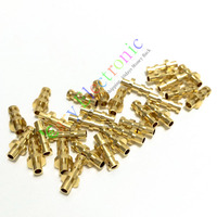 Wholesale and retail 200pc copper plated gold Turret Lug for 2MM Fiberglass Terminal Tag Board Amps free shipping