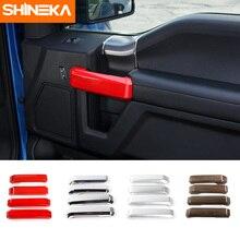 Shineka стайлинга автомобилей интерьера Дверная ручка крышки ABS Стикеры для ford F150 2015 +