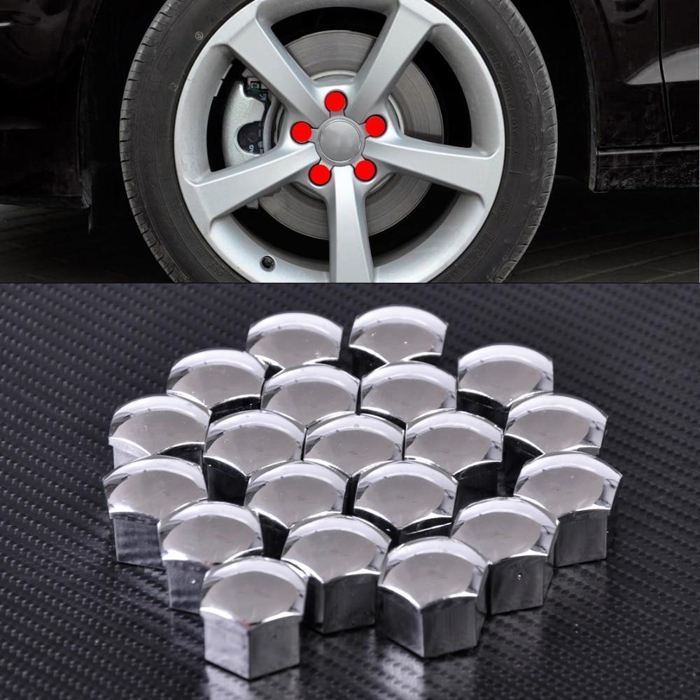 CITALL 20Pcs Wheel Lug Bolt Center Nut Covers Caps 321601173A for Audi A4 Q5 VW Jetta Golf Skoda BMW SEAT with 17mm Hexagon Bolt