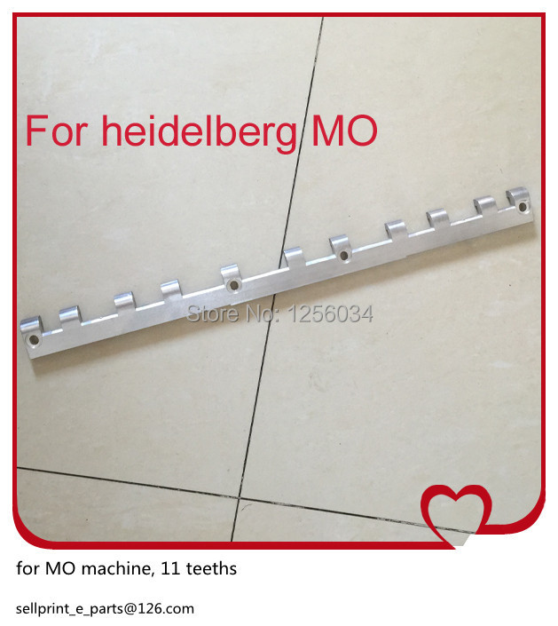 2 pieces free shipping printing gripper bar for mo heidelberg, 11 teeths