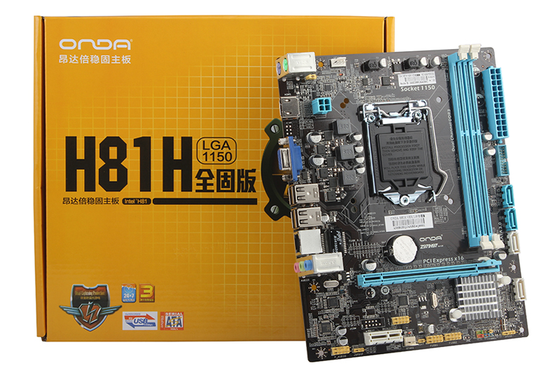New original authentic computer motherboards for Onda H81H full solid Edition LGA1150 HDMI
