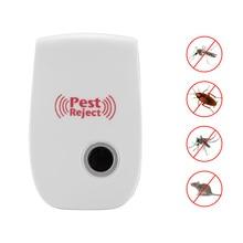 Мощный Отпугиватель комаров мухоловка контроль Ультразвуковой Отпугиватель Насекомых мышь против грызунов ошибка отклонять товары для домашнего сада
