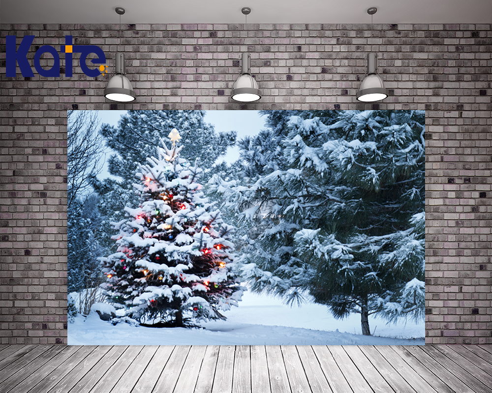 3X3M Kate Backdrops Photography Frozen Snow Winter Christmas Tree Background Photo For Wedding Photography Scenic Backdrops kate christmas photography backdrops white frozen snow background tree winter backdrop for wedding photo studio bcakground