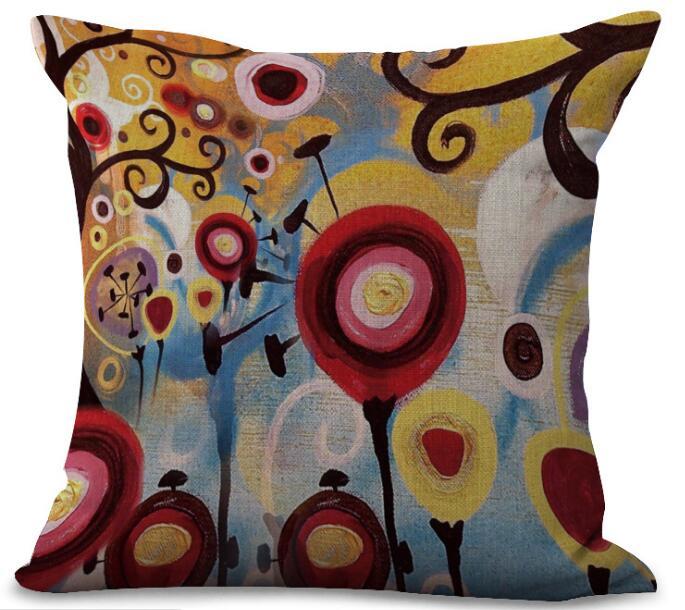 Новый Подушки печатных белье Подушки крышкой Ocean рука рисунок мультфильм детский стиль покрывает домашний диван-кровать автомобиль номер д...