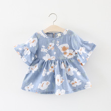 Baby Girls Dress 2018 Brand Infant Party Dress Floral Printe