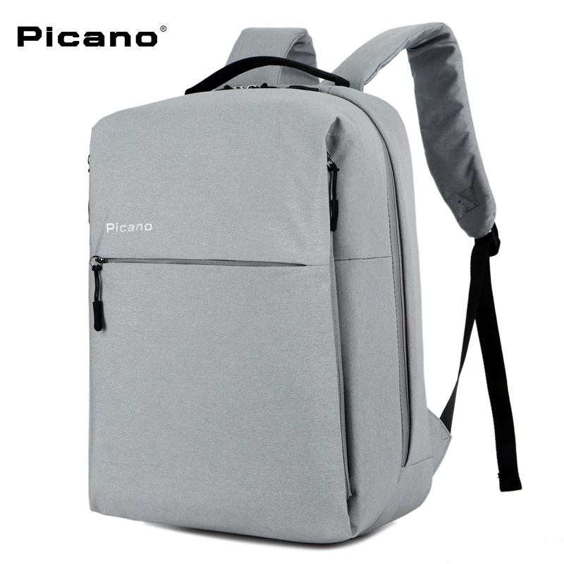 все цены на PICANO Classic women Backpack Multifunction For Ipad 14 inch Notebook Laptop Bag mochila men School Rucksack for teenagers онлайн