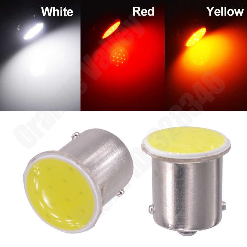 1 Pcs 1156 Lampu LED COB 12 Chips BA15S P21W Auto Mobil Lampu Sinyal Belok Reverse Lampu Ekor Lampu Putih amber Merah