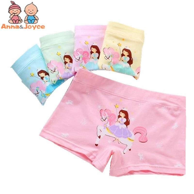 2 Teile/los Kinder Unterwäsche Mädchen Baumwolle Boxer Höschen Prinzessin Candy Farbe Boxer Mädchen Unterwäsche Briefs Tnn0188