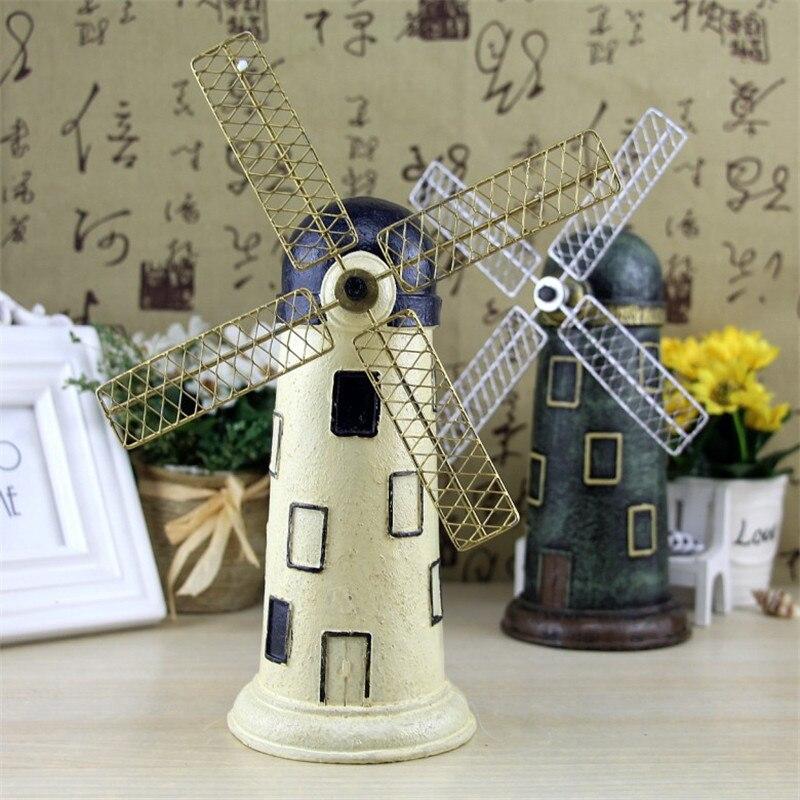 2017 Windmill Model Figurines Home Decoration Windmill