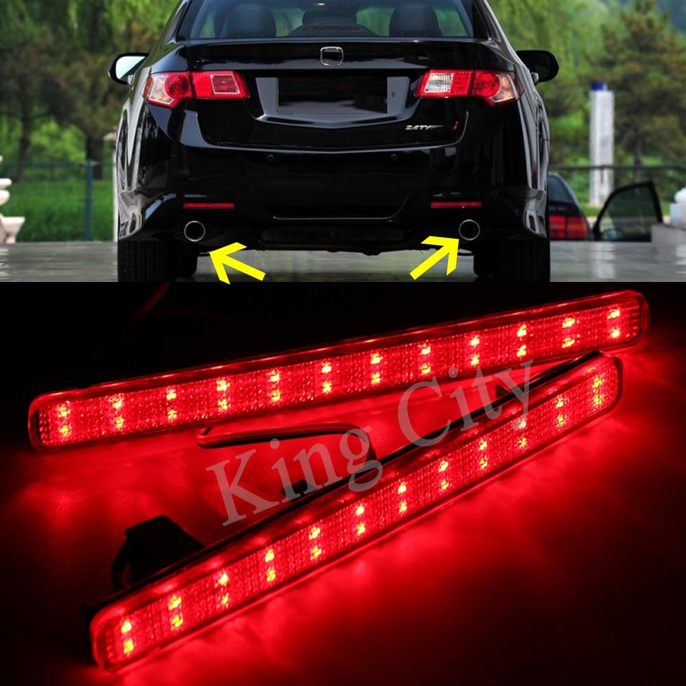 CAPQX For Accord Acura TSX Sedan 2009 2014 LED Rear Bumper
