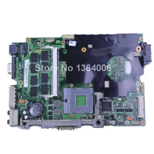 Para asus k60ij k50ij p50ij x50ij x8aij gl40 placa madre del ordenador portátil ddr2 rev 2.1 pn 60-nvkmb1000-c03 69n0ejm10c03