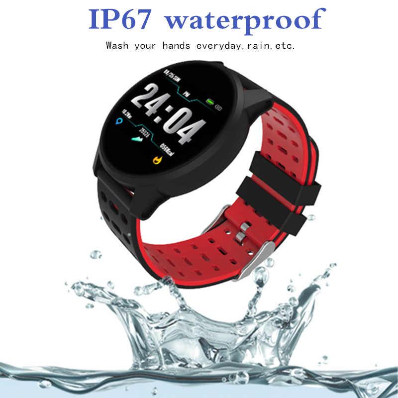 למעלה ספורט חכם שעון גברים נשים קצב לב צג לחץ דם כושר Tracker Smartwatch GPS ספורט שעון עבור אנדרואיד Ios