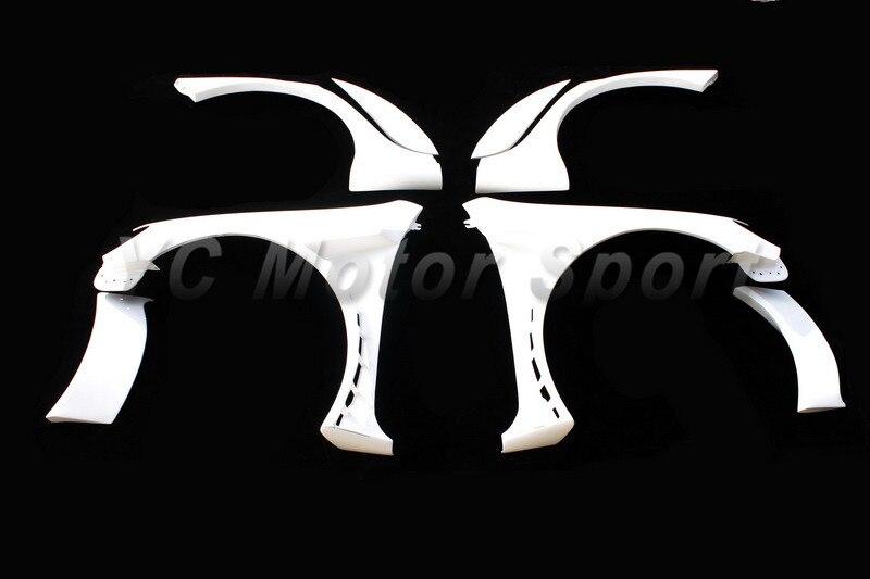 FRP Волокно Стекло Racing Стиль широкой передней и заднее крыло Flare 8 шт. подходит для 2009 2012 VW Гольф VI GTI R20 широкий Fender Наборы