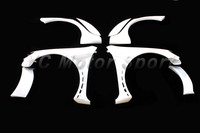 FRP Fiber Glass Racing Style Wide Front & Rear Fender Flare 8pcs Fit For 2009 2012 VW Golf VI GTI R20 Wide Fender Kits