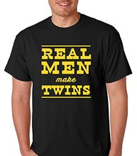 Raw T-Shirt's Funny Dad – Real Men Make Twins Men's T-Shirt Newest 2017 Fashion Stranger Things T Shirt Men Funny O-Neck