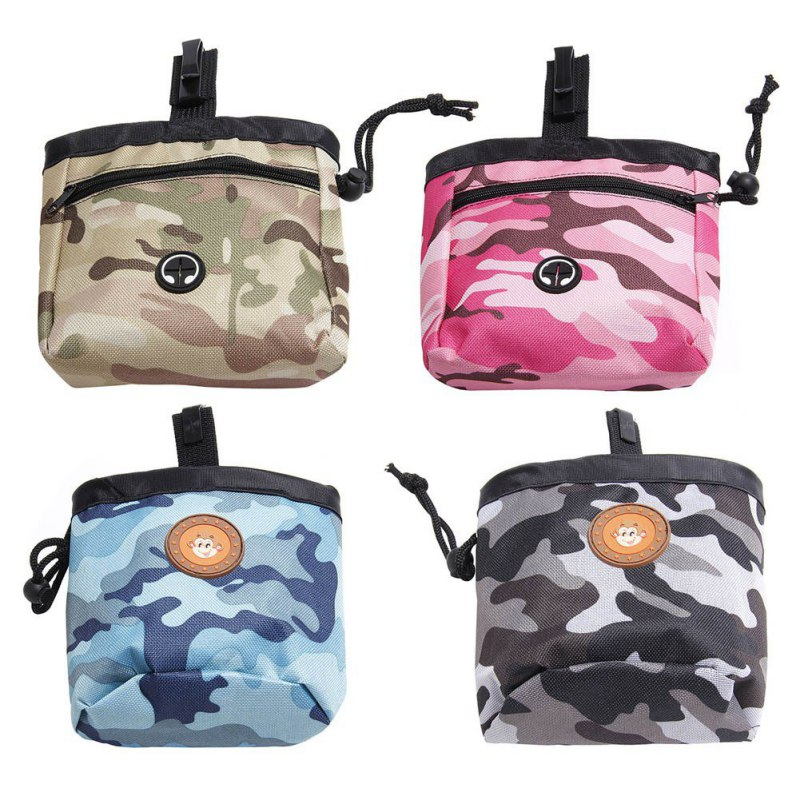 Dog Outdoor Training Pouch Waist Back Food Bag Dogs Snack Bag Pack Portable Dog Training Treat Bags Pet Oxford Camouflage in Other Dog Training Aids from Home Garden