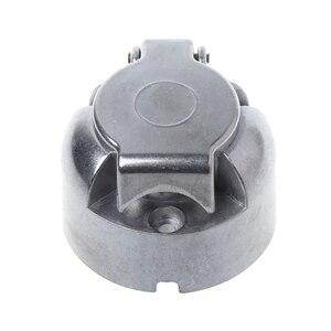 Image 3 - 7 штырьков 12N Электрический буксир, металлический трейлер, караван, автомобильная штепсельная розетка, Towbar Chrome