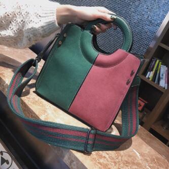 Ehrlichkeit 2018 Neue Europäische Und Amerikanische Handtaschen Schlug Farbe Breite Schulter Tasche Aromatischer Geschmack