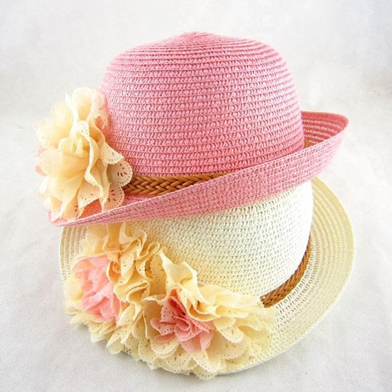 Jarní a letní děti velké květy slunce klobouk holčička slunce - Oblečení pro miminka