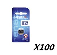100 X renata lithium Battery CR1620 3V %100 original brand renata 1620 battery