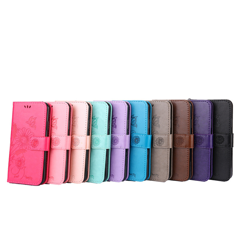 Luxury Ant dating PU Leather Wallet Flip Cover For iPhone 7 Case for Apple iPhone 6 6S 7 8 Plus X 5 5s SE Phone Bags with Stand