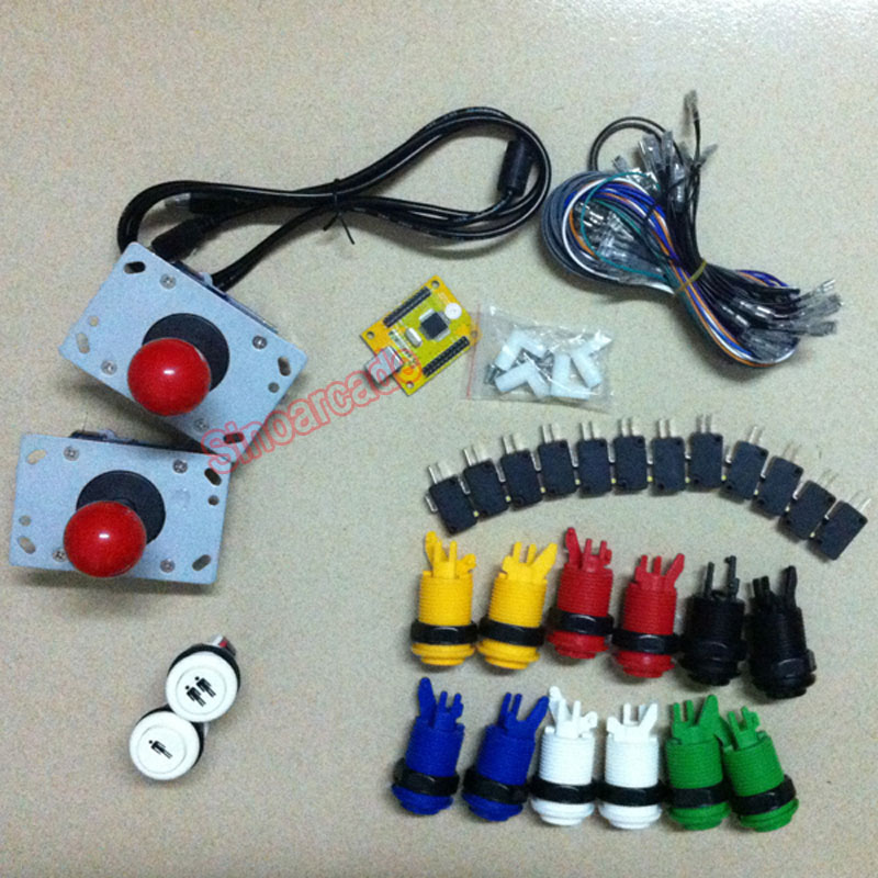 Arcade JAMMA MAME DIY parts KIT for 2 players PC PS/3 2 IN 1 interface USB Encoder to joystick and HAPP buttons