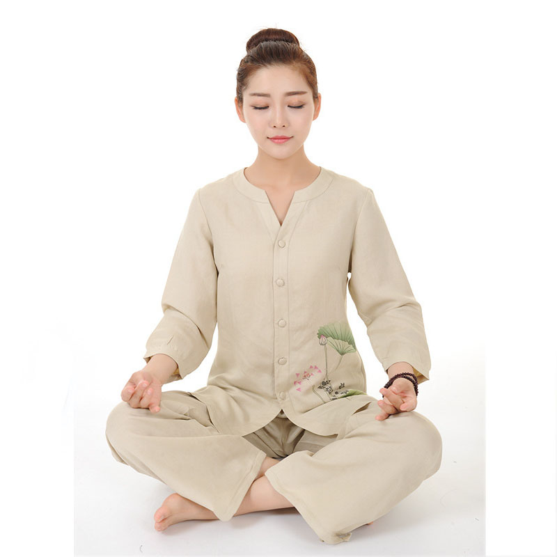 Women Yoga Clothes Sets Cotton Meditation Clothing Shirt and Pants 2pcs/set Chinese Dress brand 2016 spring summer yoga clothing set cotton linen meditation clothes high quality women buddhist set sports suits kk395 20