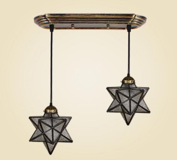 Tiffany Mediterranean industrial wind creative dining room pendant light simple room dining room aisle Bar Glass Star DF45 tiffany restaurant in front of the hotel cafe bar small aisle entrance hall creative pendant light mediterranean df66