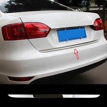 Хромированная накладка на заднюю дверь багажника для Volkswagen Vw Jetta 2011- Седан литьевая накладка на край багажника, декоративный стиль