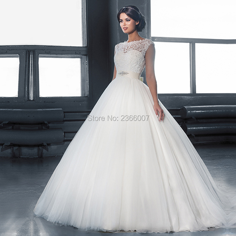 29a528f10a Robe Mariage Ball Gown Wedding Dress 2018 With Moved Crystals Beading  Sashes Wedding Gowns Custom ...