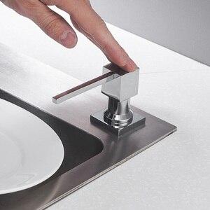 Image 3 - Диспенсер для кухонного мыла, квадратный дозатор для мыла, хромированный дозатор для кухни, встроенный диспенсер 2306
