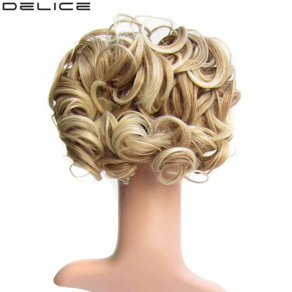 DELICE Σύντομη σγουρή συνθετική ξανθιά - Συνθετικά μαλλιά - Φωτογραφία 1