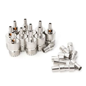 Image 2 - 10 Sets UHF Female Jack SO239 Crimp RF Connector Coaxial Adapter For RG58 RG142 RG400 LMR195 Cable qiang