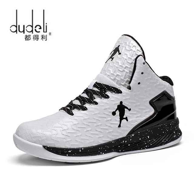 e78229258db76c DUDELI Man High-top Jordan Basketball Shoes Men s Cushioning Light  Basketball Sneakers Anti-skid Breathable Sports Jordan Shoes