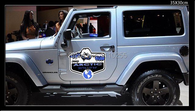 Aliauto Car Styling Sahara Arctic Polar Snow Monsters Door stickers And  Decals Decoration For 2012 JEEP