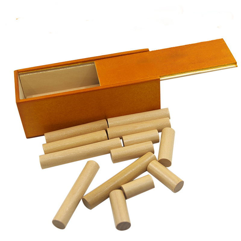 1set Inspired Stick Into Box Wooden Puzzle Adult Intelligence Assembling Game Teaching Toy Gift For Kids educational wooden toy ...