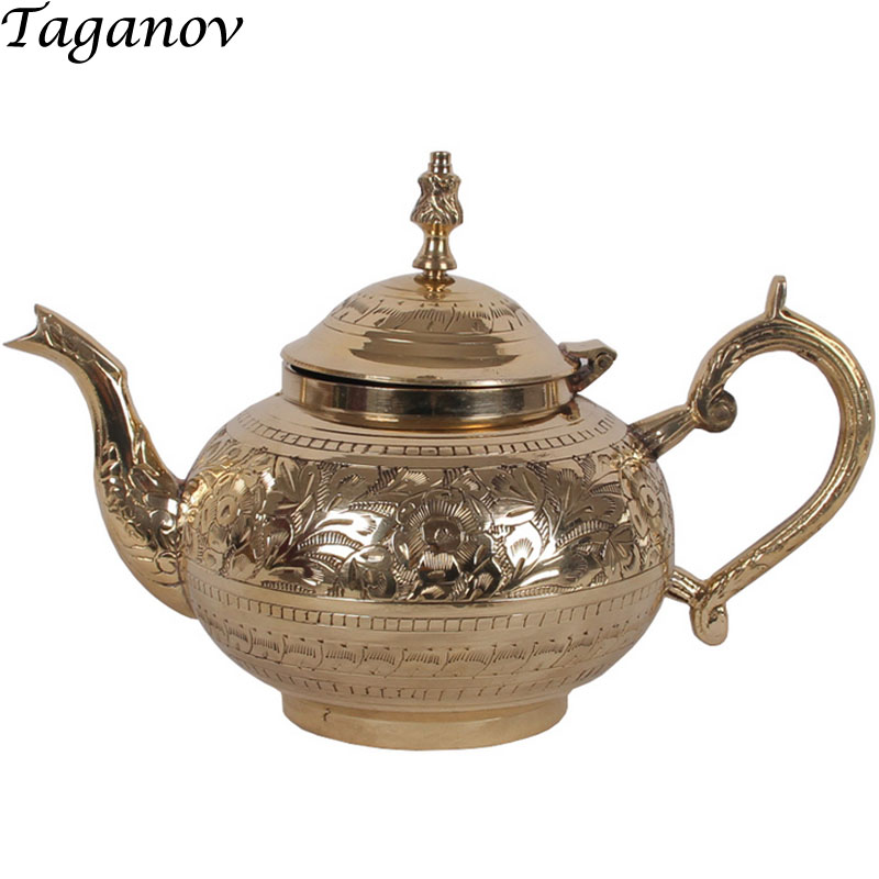 pu er chinese teaware longjing copper Teapots office gifts for men 600ml 880ml Creative tea kettle puerh jasmine teapot warmer