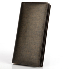 Men Cowhide Long Wallet Korean Style Designer Trendy Functional Money Clip Fashion Genuine Leather Business Purse
