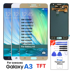 100% Tested TFT LCD For Samsung Galaxy A3 2015 A300 A300FU A300F A300M LCD Display+Touch Screen Assembly brightness Can adjust