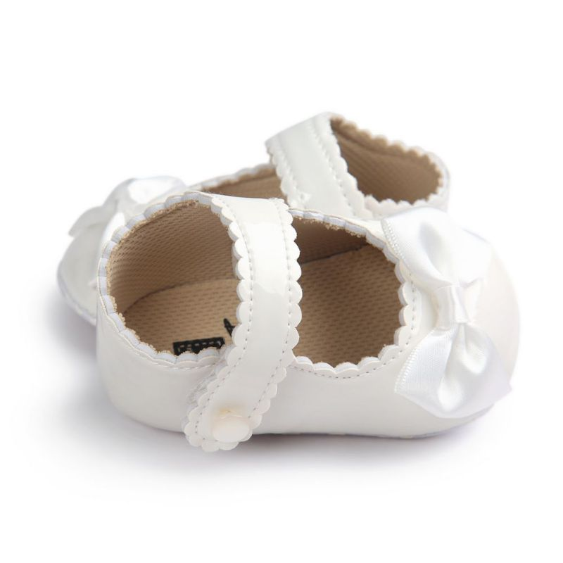 Infant Baby Boy Shoes Soft Sole PU Leather First Walkers Crib Bow Baby Shoes Moccasins Shoes 0-18 Months
