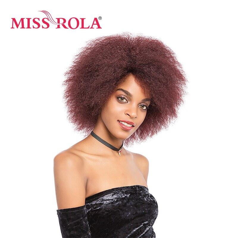 Мисс Рола Коко Kanekalon Искусственные парики странный прямые волосы для Для женщин 6 дюймов короткие Искусственные парики 3 цвета черный 2 # 99j # жаропрочных парик