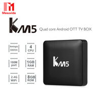 Mesuvida KM5 TV Box Quad Core Amlogic S905X Android 6.0 Set Top Box 2.4G WiFi VP9 H.265 Decoding Media Player 1G/8G KDi Box TV