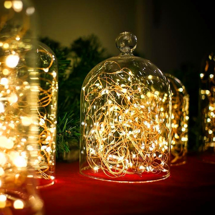 Christmas 2m 5m Led Garland Fairy Silver Copper Light String 20leds 50leds Indoor Home Holiday Gift Decoration Lamps Lighting Strings Lights & Lighting