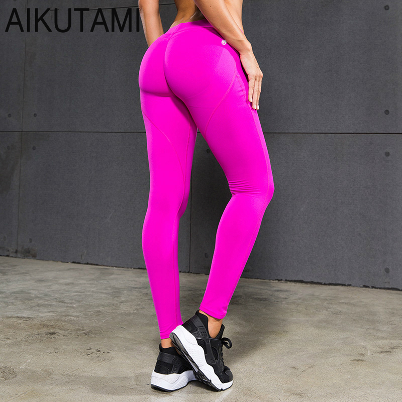 Compression Pants Women Running Pants Hip Quick Dry Elastic Solid Sport Leggings Fitness Sports Tights Hardlopen for Yoga Gym