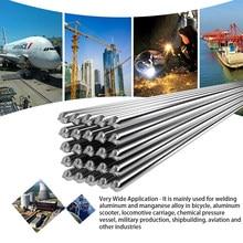 Alambre de soldadura de aluminio de baja temperatura, núcleo de fundente, 2mm x 500mm, al-mg, No necesita polvo de soldadura, 10/20 piezas