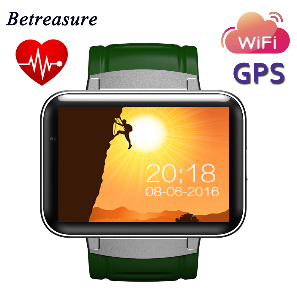 Betreasure DM98 Smart Watch Android Big Screen 320*240 MTK Dual Core 1.2G 900mAh with WIFI 3G GPS Smartwatch For Android IOS