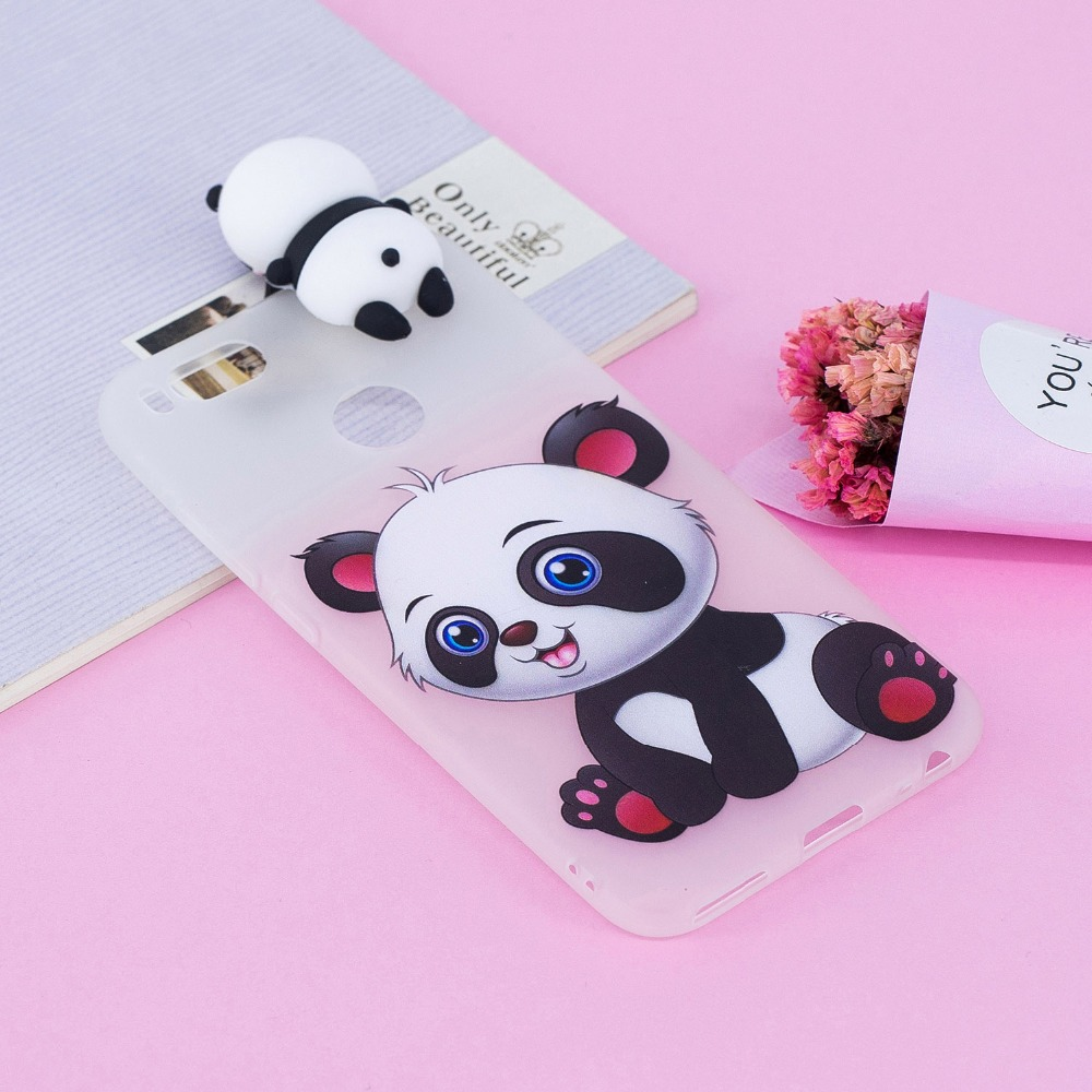 3D Cartoon Owl Cases For Coque xiaomi Mi 5X A1 Case Soft Silicone 3D Squishy cat Panda Bear Case for Xiaomi Mi 6X redmi 5A Cover in Fitted Cases from Cellphones Telecommunications