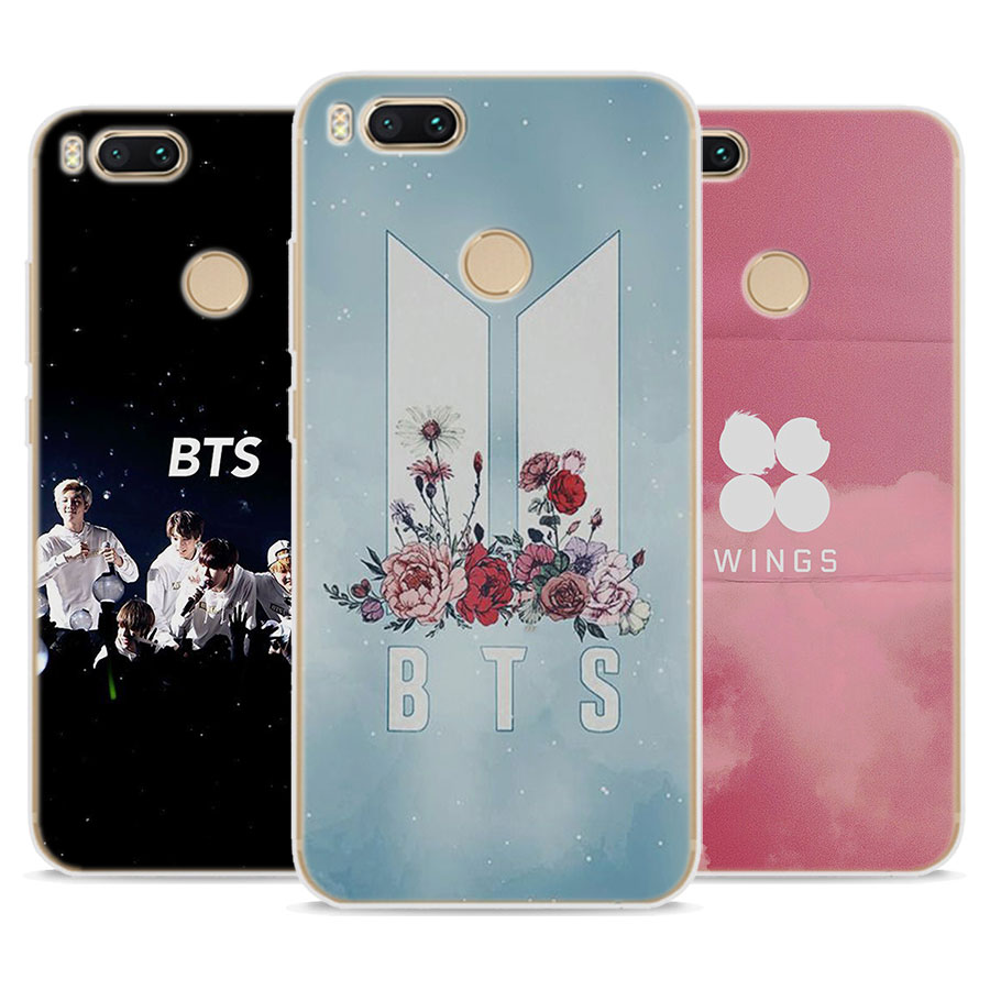 new concept 7f4b8 2698c For Redmi 5A Case Bts Wings Bantang Soft TPU Silicone Back Case Cover For  Redmi 5 5A 4X Note 5A For Xiaomi Mi 6 5 A1 6X
