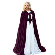 c4eefd6f92f60 Dorosłych dzieci Halloween płaszcz z kapturem aksamit czarownice  księżniczka śmierć długa peleryna Vampire Cape Cosplay Costume