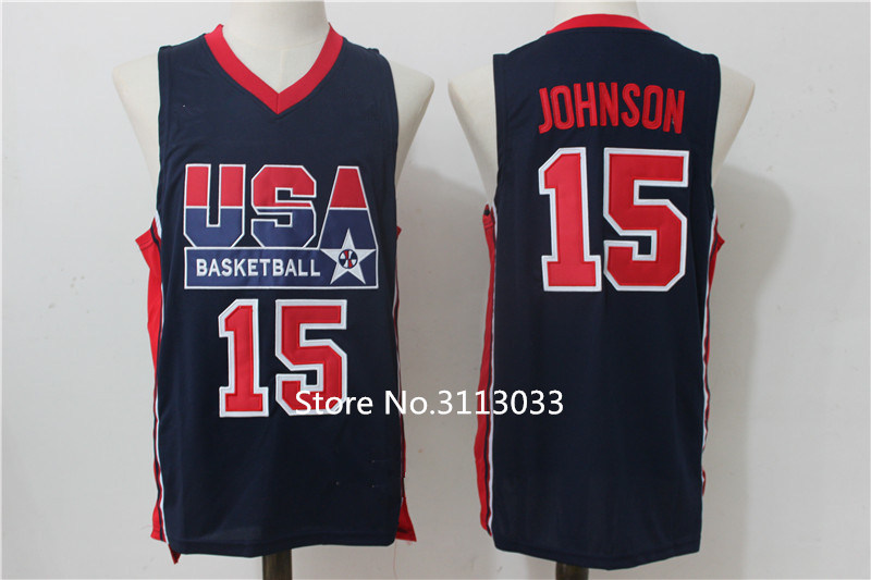 sports shoes c6887 aa9c7 Retro #15 Magic Johnson 1992 Dream Team USA Basketball Jersey Stitched S  XXL-in Basketball Jerseys from Sports & Entertainment on Aliexpress.com    ...